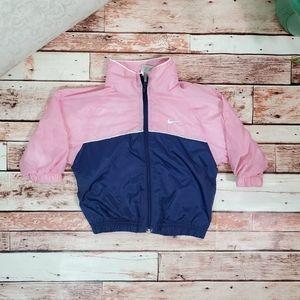 Nike Zip Up Spell Out Windbreaker Jacket